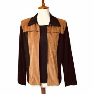 Briggs New York Zip-Up Suede-Look Jacket